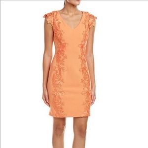 Belle By Bagley Mischka Orange Sheath Dress NWT